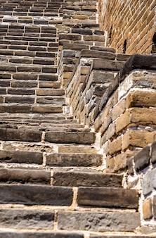 Detalles de la gran muralla china en badaling