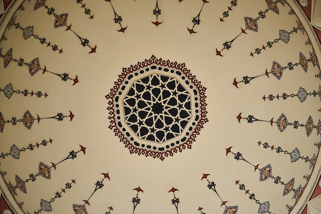 Detalles de una mezquita de turquía