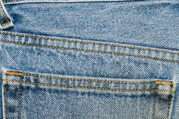 Detalles de primer plano de bolsillo de mezclilla