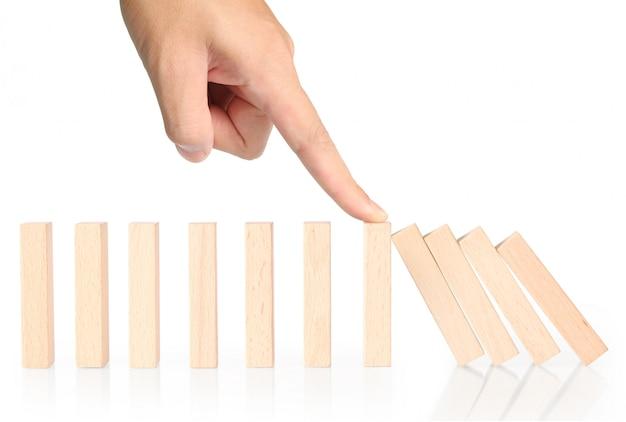 Detener dominó continuo derribado