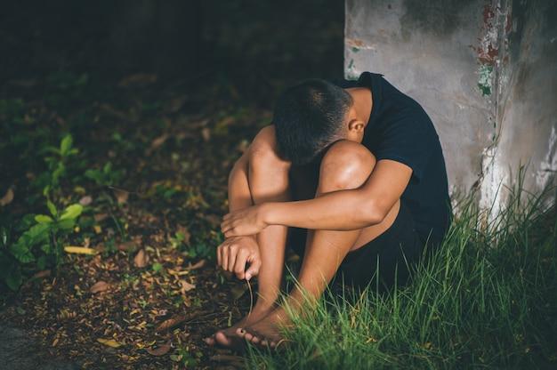 Detener la violencia contra los niños y el concepto de vida soltero