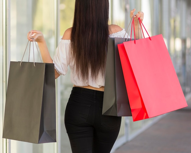 Desde detrás del concepto de compras del viernes negro