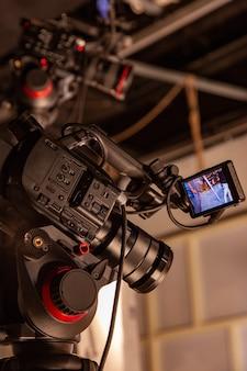 Detrás de escena de producción de video o filmación de video