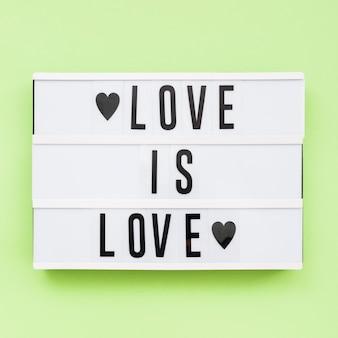 Día feliz del orgullo mundial el amor es amor