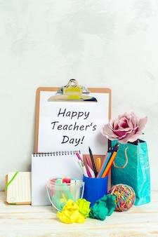 Día festivo del maestro. copia espacio