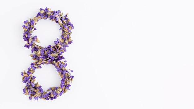 Día floral de la mujer 8 de marzo espacio de copia.