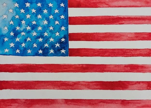 Día de la independencia usa el 4 de julio. bandera estadounidense