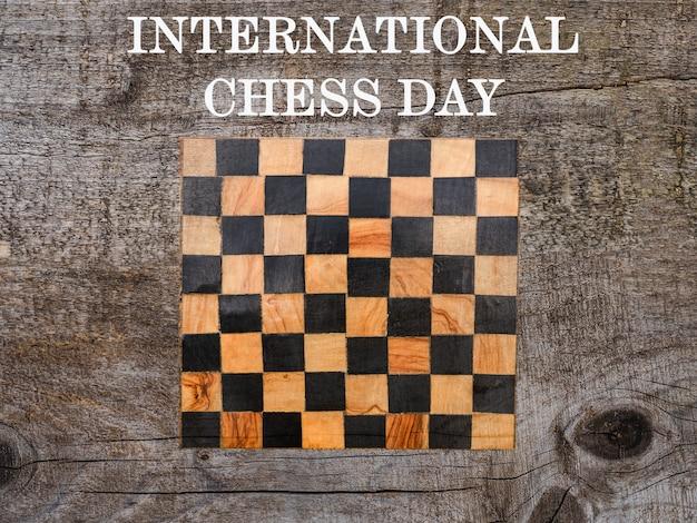 Día internacional del ajedrez. hermosa tarjeta