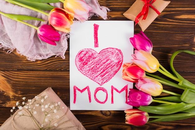 Día de la madre composición de los artículos.