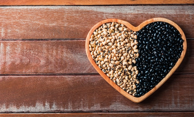 Día mundial de la alimentación, frijol negro y semillas de soja o blanco