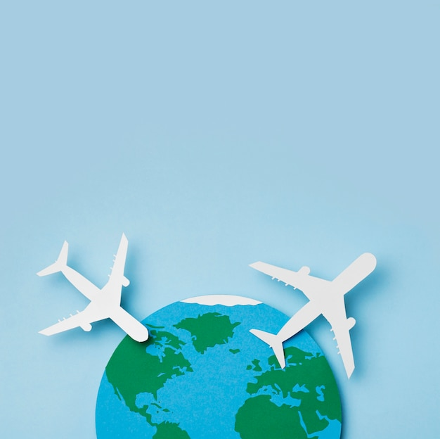 Día mundial del turismo con espacio de copia