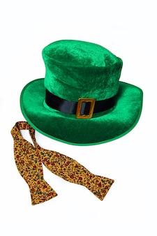 Día de san patricio disfraz sombrero duende vacaciones verde kilt regalo irlandés corbata corazón marrón marzo