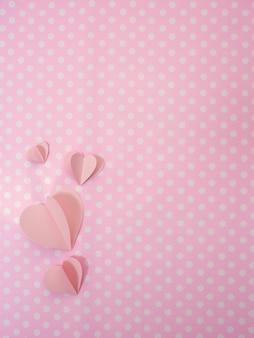 Día de san valentín 14 corazones de color rosa