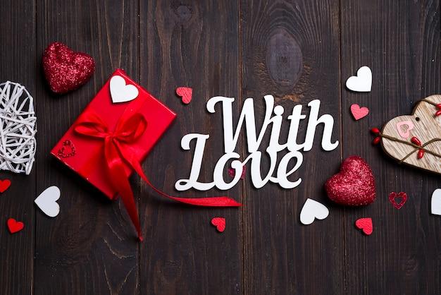 Día de san valentín, bodas u otras decoraciones navideñas, fondo de marco.