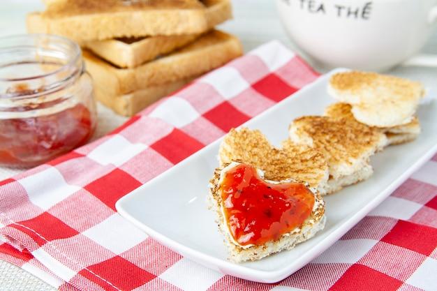 Dia de san valentin desayuno