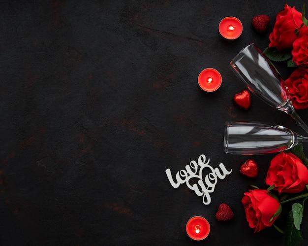 Día de san valentín romantico
