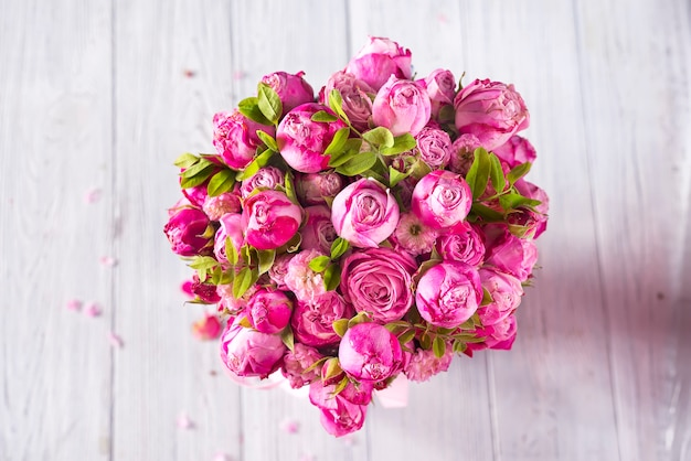 Día de san valentín de rosas rosadas