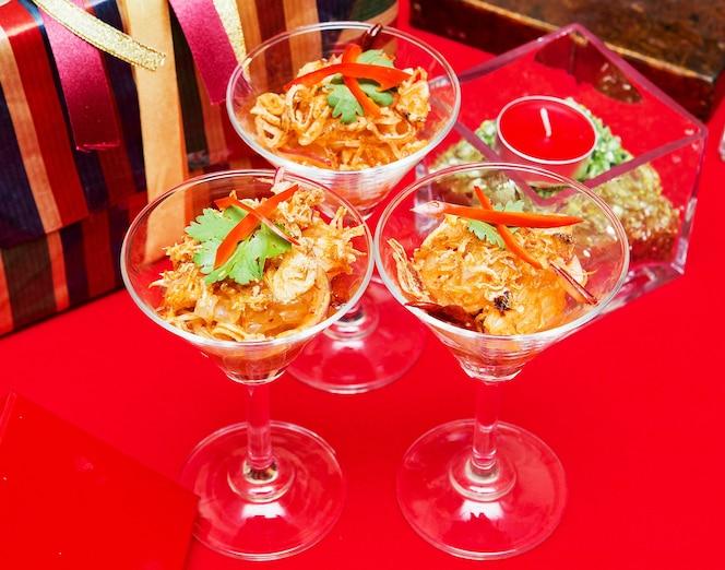 Días de la ensalada del cóctel de tailandia de la navidad.