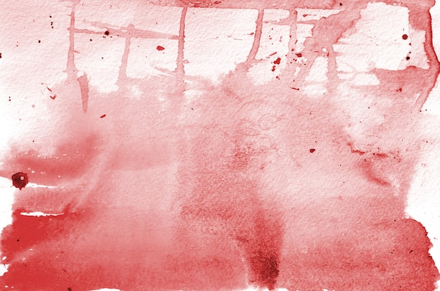 Dibujado a mano en forma de acuarela roja. fondo pintado creativo, decoración hecha a mano.