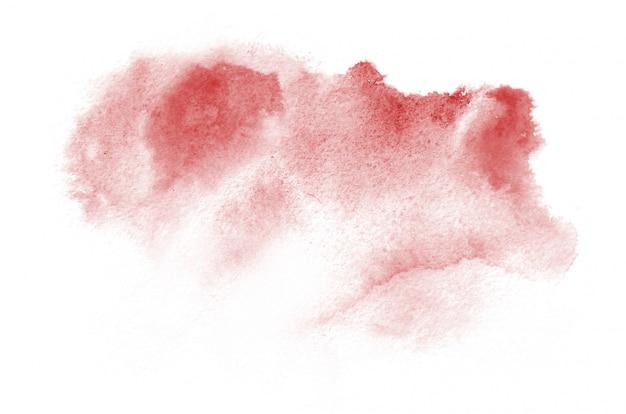 Dibujado a mano forma de acuarela roja