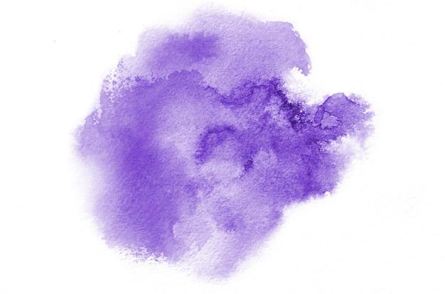 Dibujado a mano forma violeta acuarela