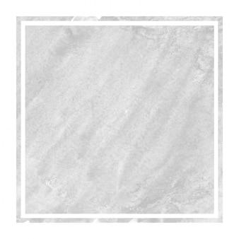Dibujado a mano monocromo acuarela marco rectangular textura de fondo con manchas