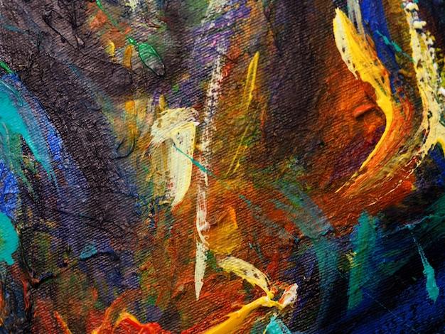 Dibujado a mano pintura al óleo. pintura al óleo sobre lienzo. fondo abstracto.