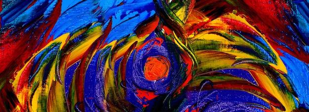 Dibujado a mano pintura arte abstracto panorama fondo colores textura diseño ilustración