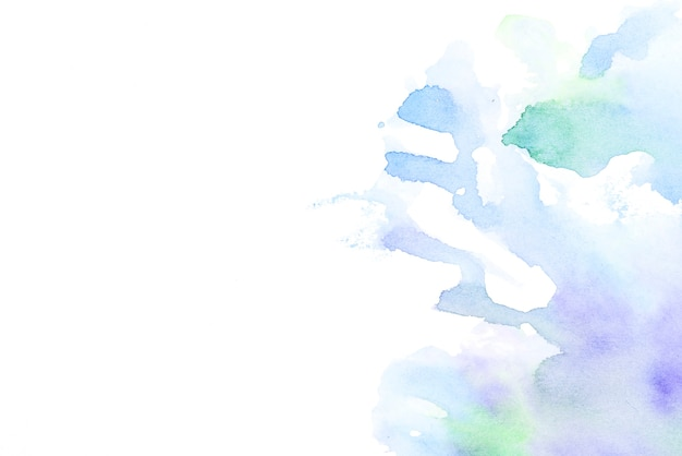 Dibujado a mano salpicaduras de agua en el fondo blanco Foto gratis