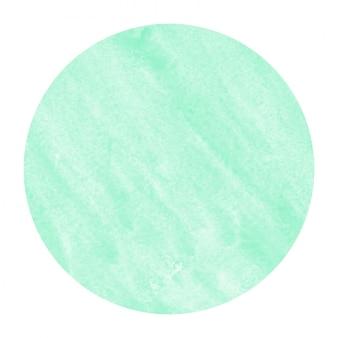 Dibujado a mano turquesa acuarela marco circular textura de fondo con manchas
