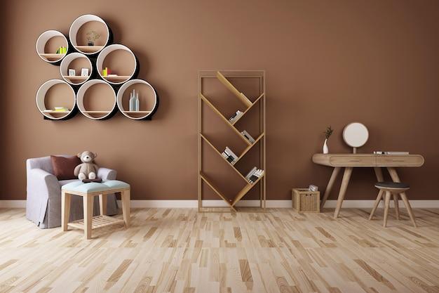 Dibujo efecto combinado de muebles modernos