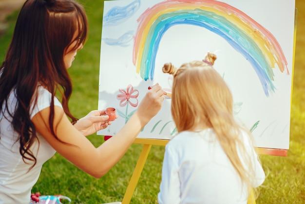 Dibujo de madre e hija