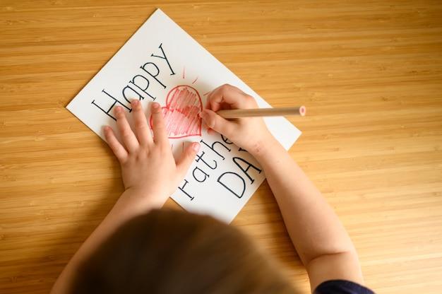 Dibujo de niño de primer plano