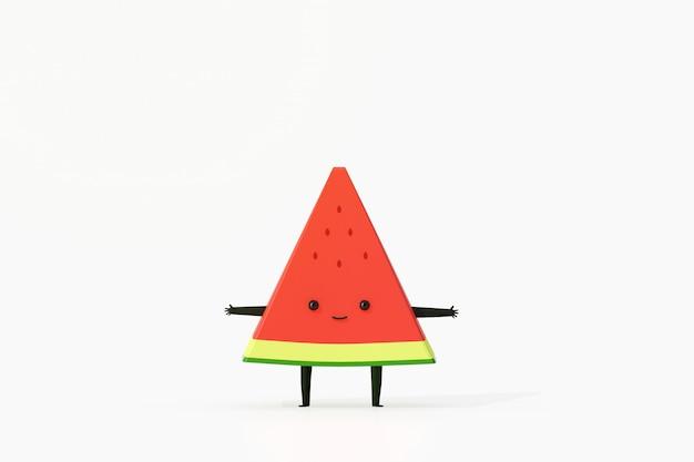 Dibujos animados de fruta divertida sandía
