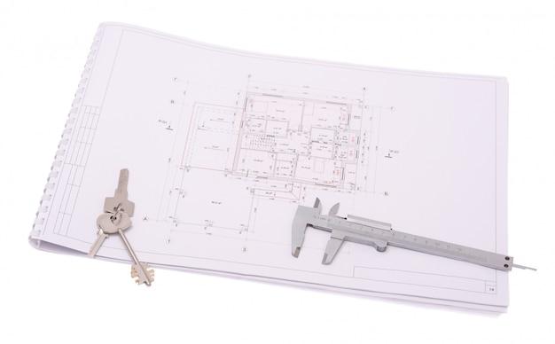 Dibujos arquitectonicos de la casa moderna.