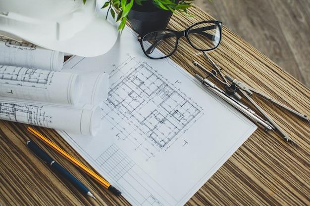 Dibujos y herramientas de proyectos, primer plano