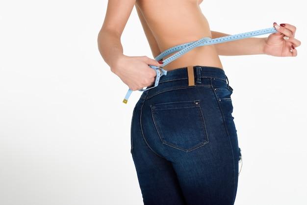 Dieta chica delgada cinta de peso