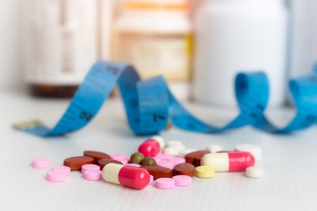 Dieta; delgado por pastillas, peligroso para la salud.