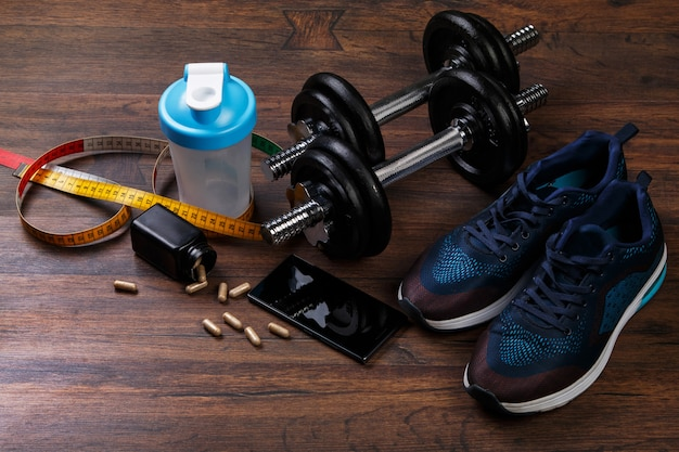 Diferentes artículos para fitness