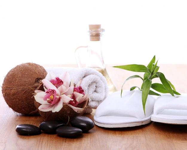 Diferentes artículos de spa