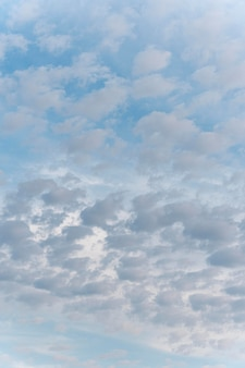 Diferentes formas de nubes blancas.