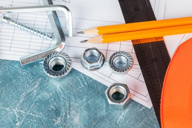 Diferentes herramientas de construcción