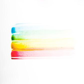 Diferentes líneas de pintura de colores