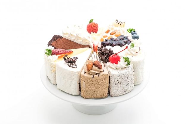 Diferentes pedazos de pastel