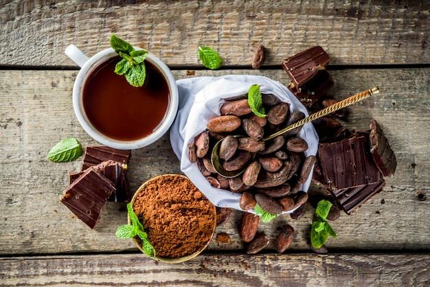 Diferentes tipos de cacao.