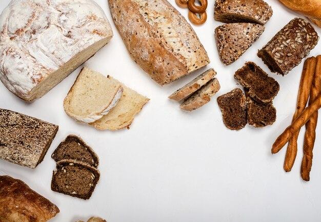 Diferentes tipos de fondo de pan