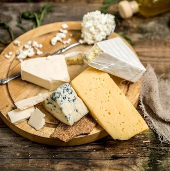 Diferentes tipos de queso