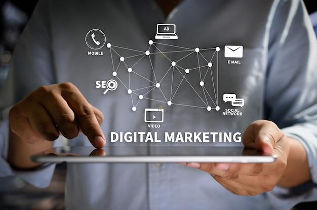 Digital marketing nuevo proyecto de inicio optimización de motores de búsqueda en línea