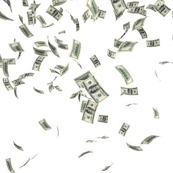 Dinero en dolares cayendo