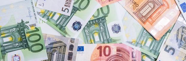 Dinero euro fondo de efectivo del euro. billetes en euros.